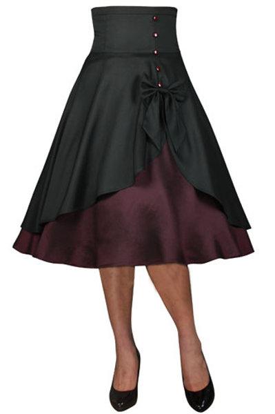 """""""High Waist Bow"""" Skirt"""