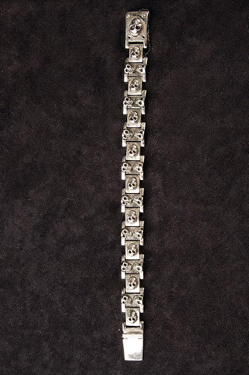 """""""Skulls"""" Stainless steel bracelet"""