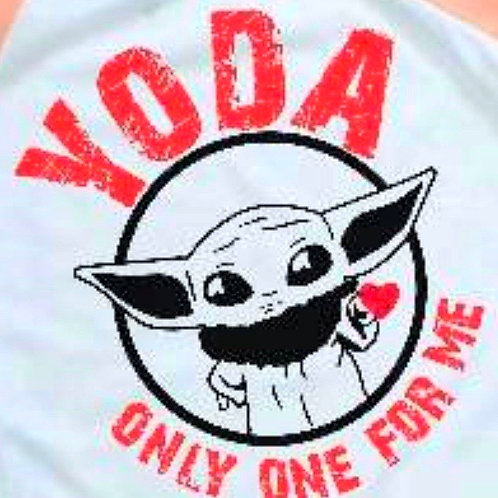 Yoda Only One For Me Cute Valentine's Day T-shirt