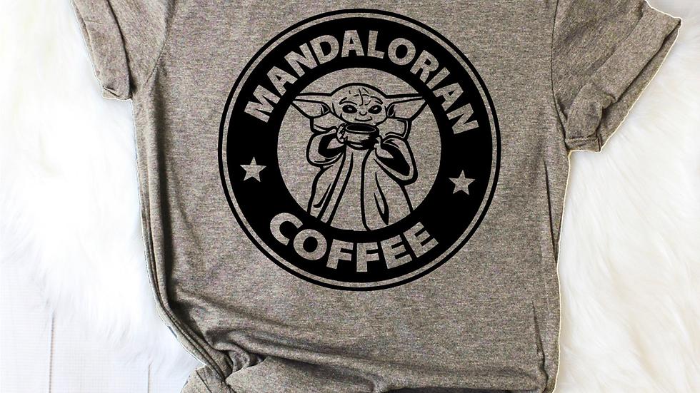 Mandalorioan Coffee Tee Funny T-shirt