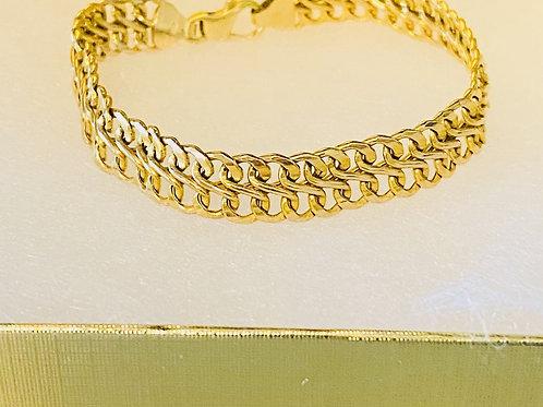 14K Gold Double Link Bracelet
