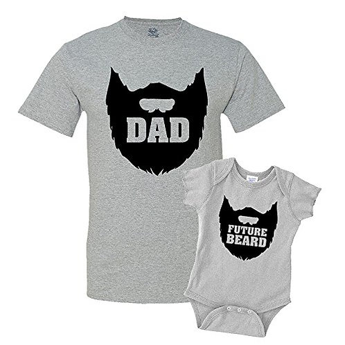 Bearded Dad Future Beard Funny Dad and Child T-shirt