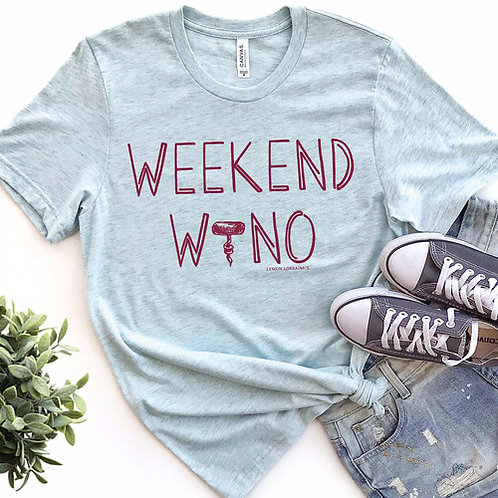 Weekend Wino Drinking Tee T-shirt