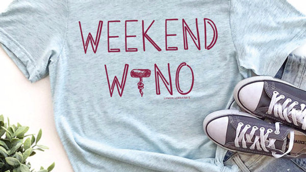 Weekend Wino Drinking Tee T-shirt