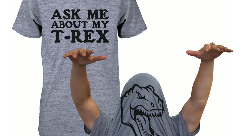 Ask Me About My Trex T-Shirt Funny Flip Tee T-shirt