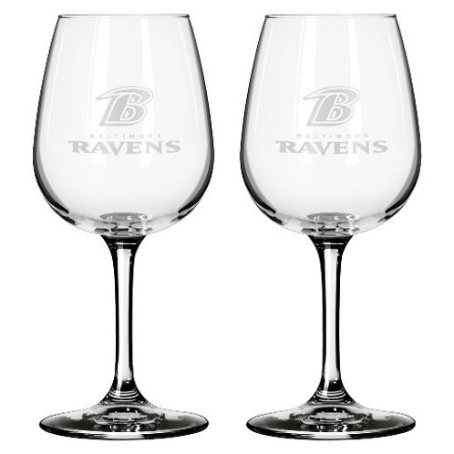 NFL New England Patriots 21 oz. Stemless Etched Wine Glass