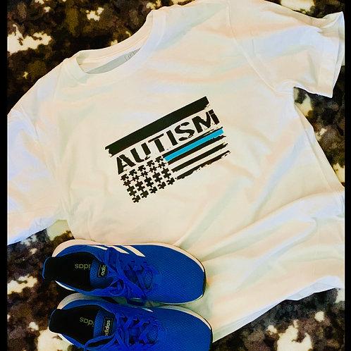 Autism Awareness Flag T-shirt