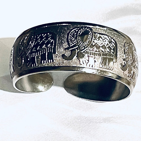 Vintage 925 Elephant Bangle