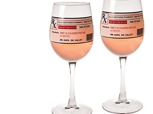 Funny Rx Therapy Wine Glasses