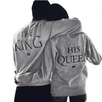 King and Queen  His and Hers Hoodies