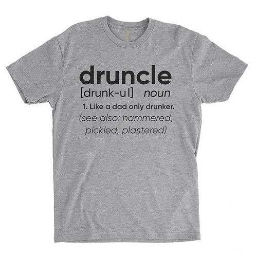 Druncle Tee Funny Uncle Definition T-shirt
