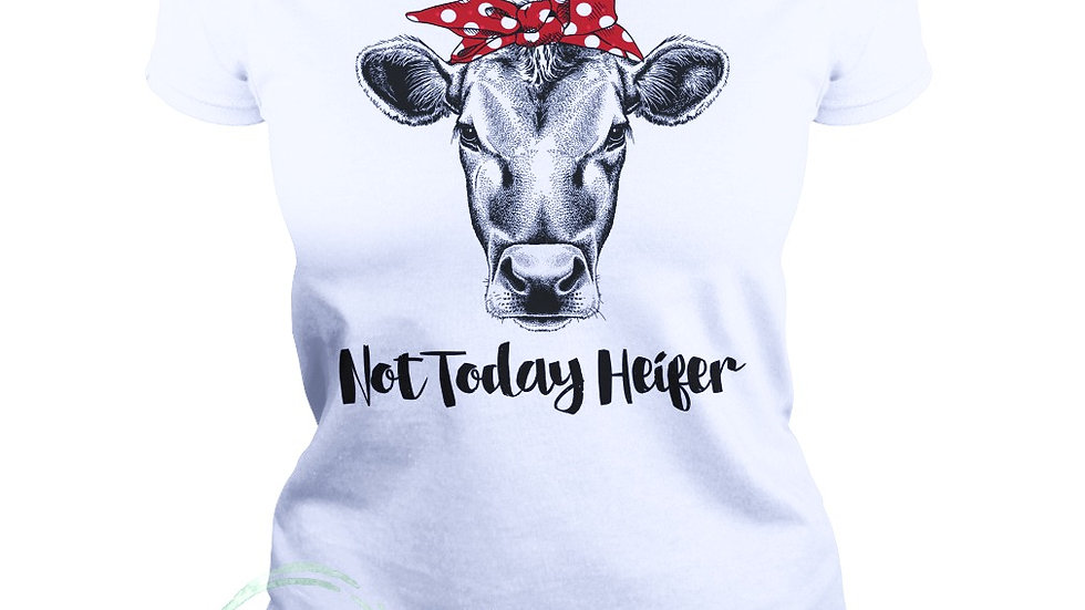 Not Today Heifer Funny She-Cow T-shirt