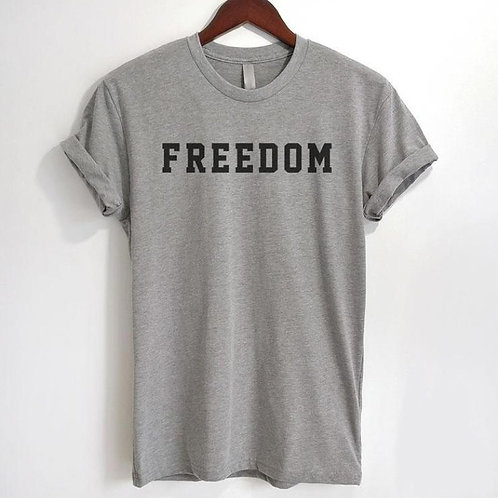 Freedom Unisex Soft CottonTee Statement T-shirt