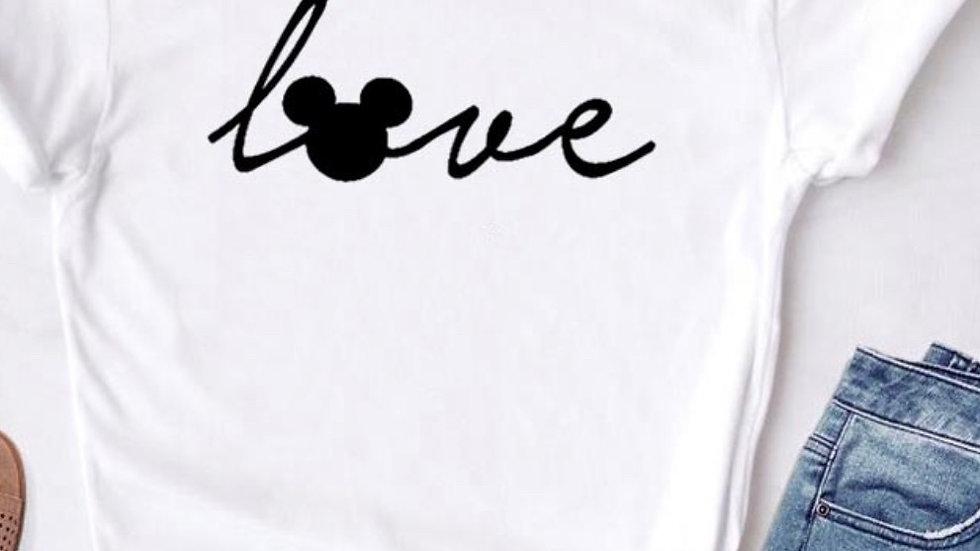 "Mickeys Disney World ""Love"" Famous T-shirt"