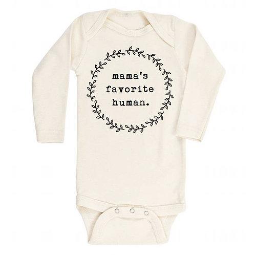 """Mama's Favorite Human""""Onesie Kid's Tee"""