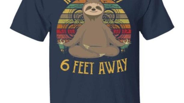 Namastay 6 Feet Away Funny Pandemic T-shirt