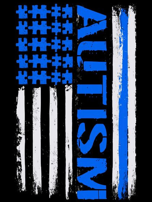 Thin Blue Line Autism Awareness Decal