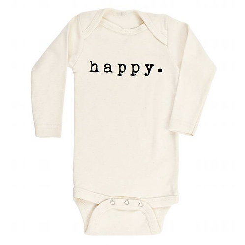 Personalized Baby Happy Onesie / Kid's Tee -Happy