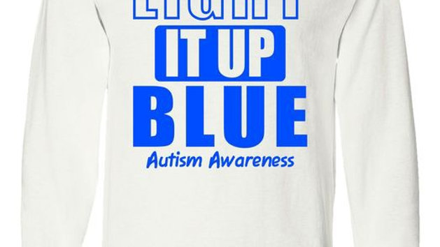 Light It Up Blue Autism Acceptance Awareness T-Shirt
