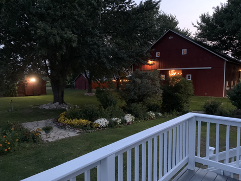 Deck view at dusk