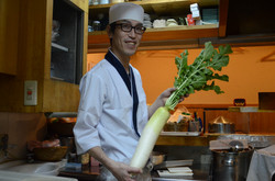Le chef Obata et son radis blanc