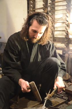 Eric Chevallier, l'apprenti-forgeron