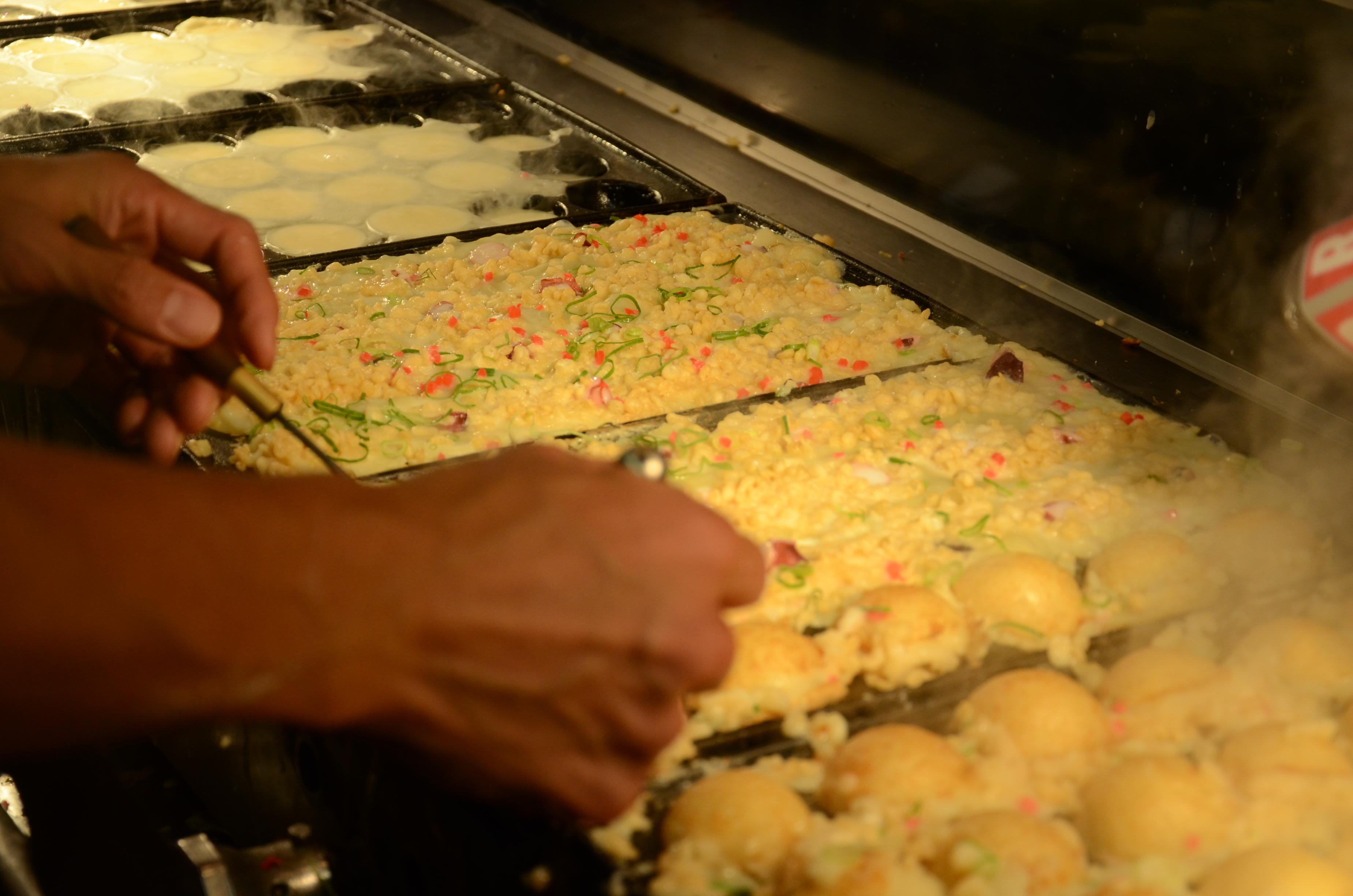 Préparation de takoyaki
