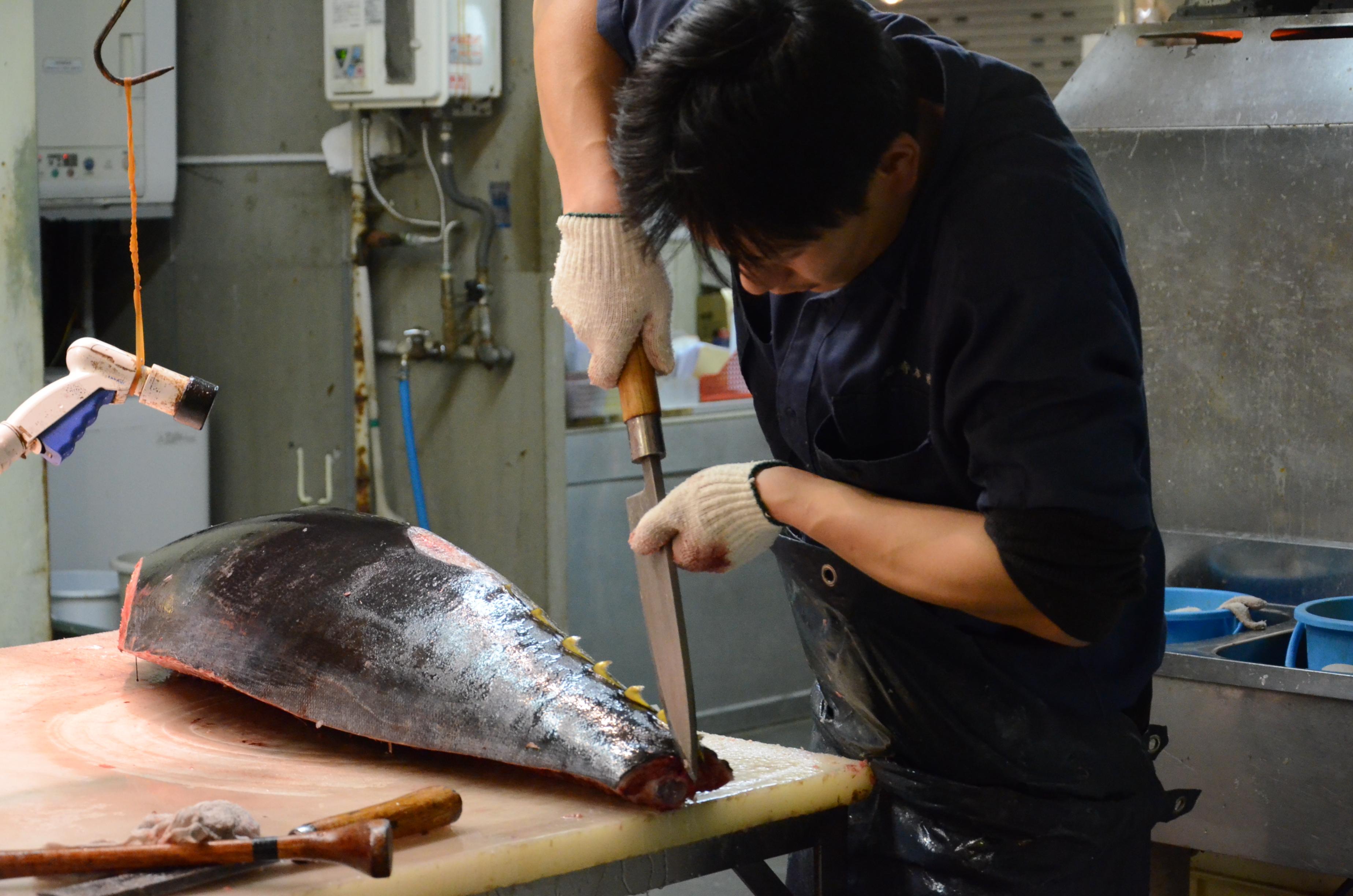 Préparation du thon
