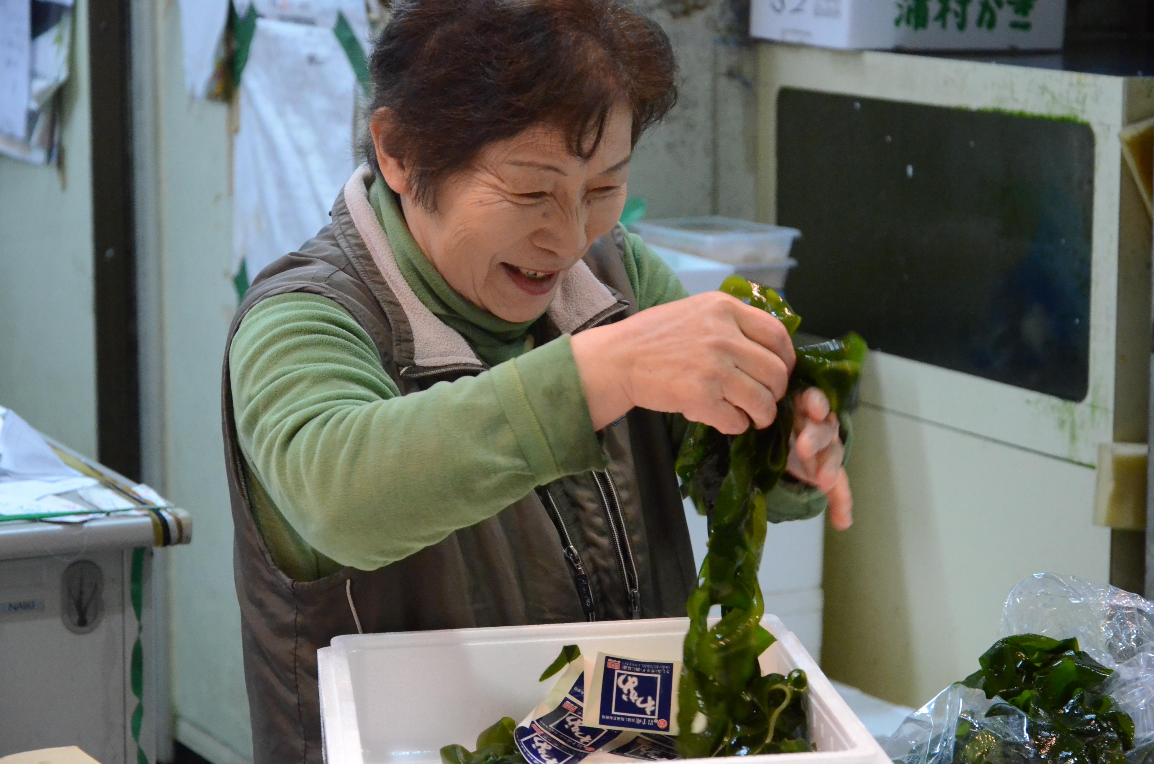 Une marchande d'algues...