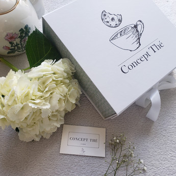 Bouquet et box concept thé