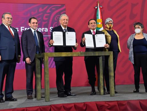 AMLO decreta plan de beneficios fiscales en fronteras norte y sur
