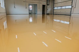 Epoxy resin applied to the floor. Indust