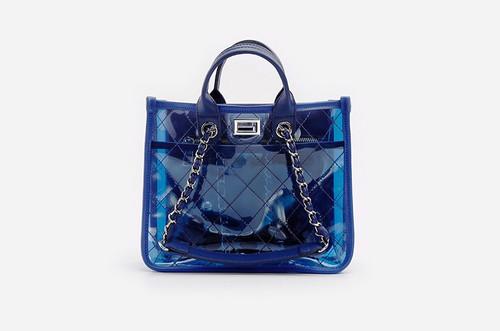 b1126c054fcd Прозрачная сумка (силикон) с ромбовидной прошивкой ...