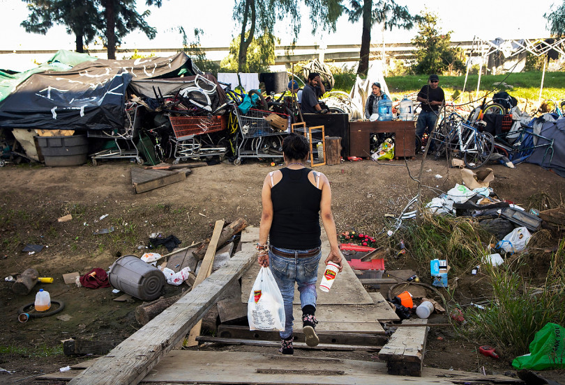 With over 500,000 homeless in the United States, homeless cities are popping up at record numbers Photo courtesy Mercury News, San Jose, Calif.