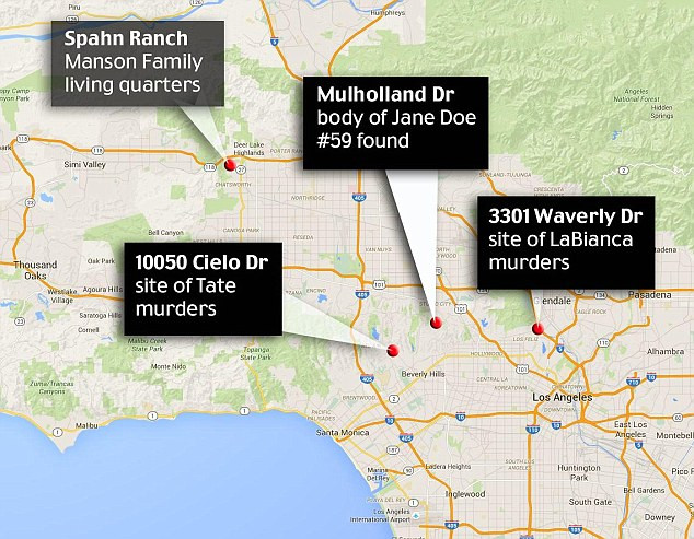 Reet Jurvetson's body found near location of Manson family victims.