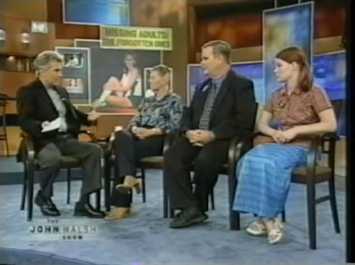 Robert Cook, his wife Janet and younger daughter JoAnn appear on the John Walsh Show in 2005.