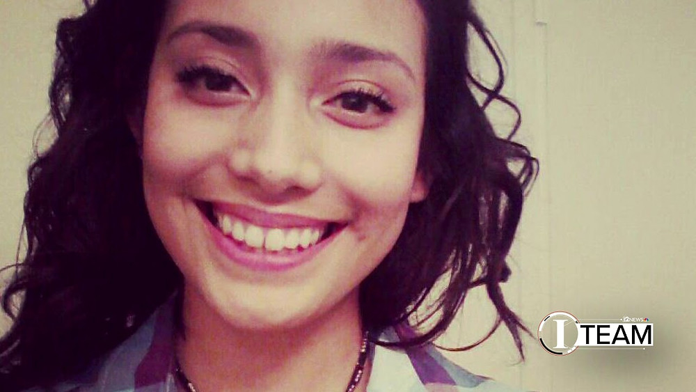 Adrienne Salinas, 19, vanished on June 15, 2013, while walling to a nearby gas station in Tempe, Ariz. Her body found in the desert months later Photo courtesy of News 12.