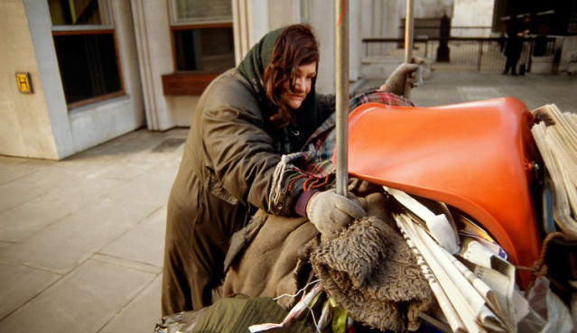 Many homeless people start out with jobs and homes; then social and economic factors intervene.