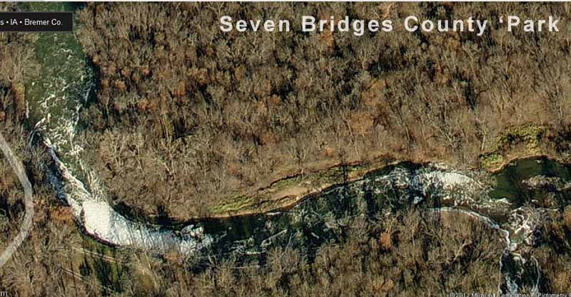 The remote location in Seven Bridges Wildlife area, where the bodies of Lyric Cook and Elizabeth Collins were found.