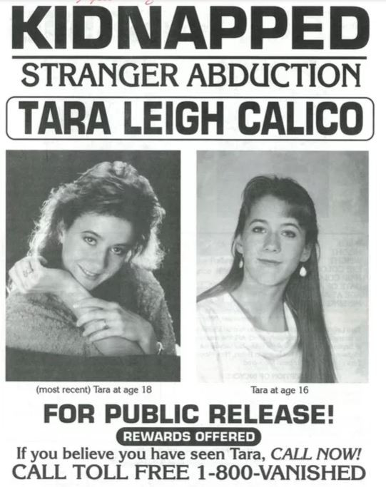 Posted distributed by the Valencia County Sheriff's Department of Tara Calico.