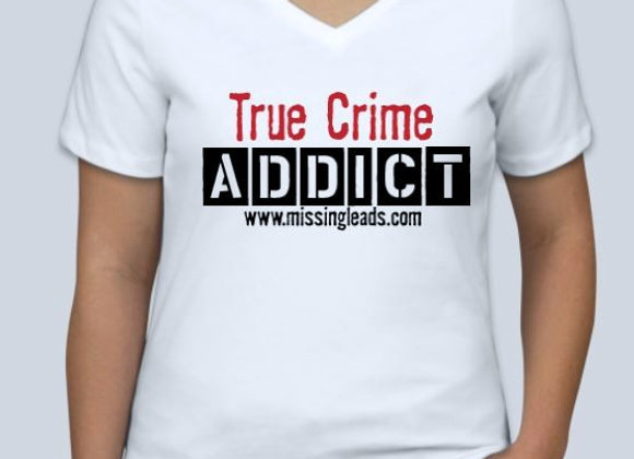 WOMEN'S 'ADDICT' V-NECK T-SHIRT