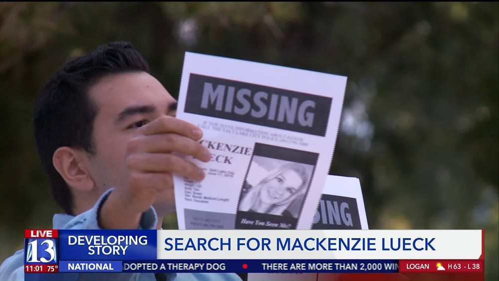 Missing Utah student Mackenzie Lueck's friends and community have gathered to pass out fliers. Photo courtesy of Fox 13.