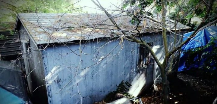 Soundproof shed where missing child Jaycee Dugard was held captive for 18 years in Antioch, California.