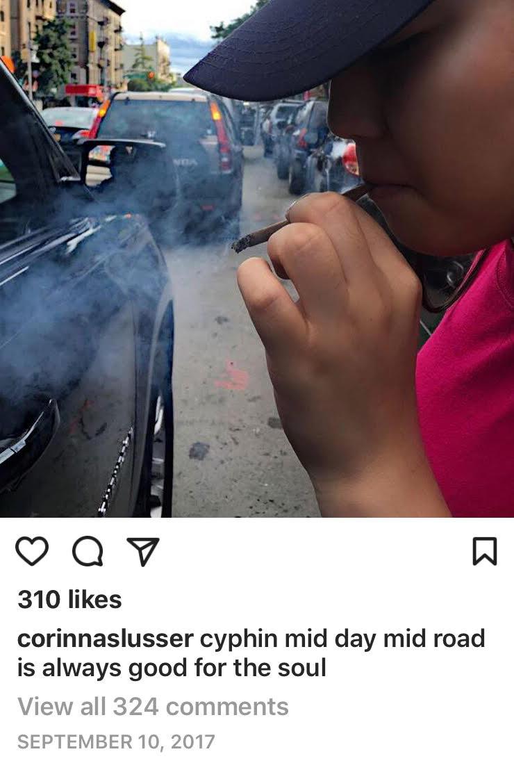An avid social media user, Corinna Slusser's last Instagram post on September 10, 2017.
