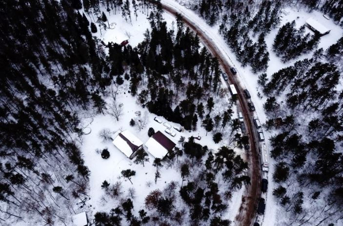 Remote cabin where kidnapper Jake Patterson held Jayme Closs for 88 days.