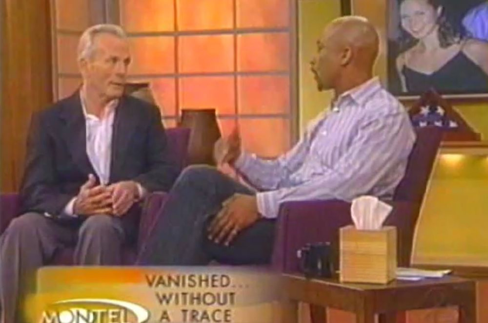 Fred Murray appears on the Montel Williams Show about missing adults in 2004.