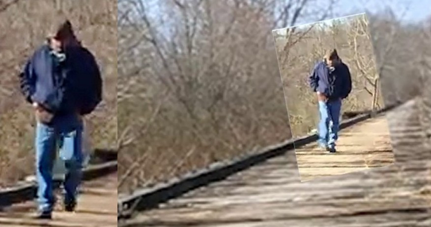 Photo Liberty German took of the man police suspect in the murder of both Delphi girls.