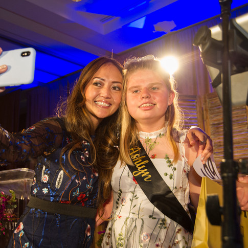 Photo of two girls taking a selfie at UCP-OC's Life Without Limits Gala