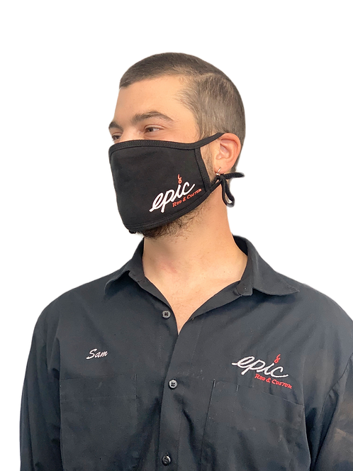 Epic 100% Cotton Antimicrobial Triple Layer Adjustable Mask