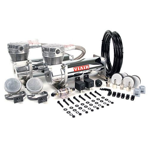 Viair 480C chrome air compressor dual value pack